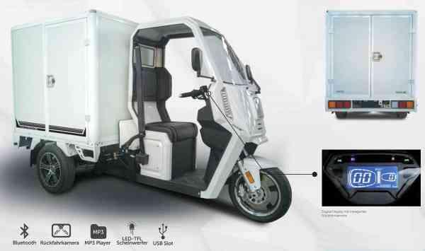 3 Kw Elektro-Nutzfahrzeug TRUCK XC Kasten, max. 45 km/h