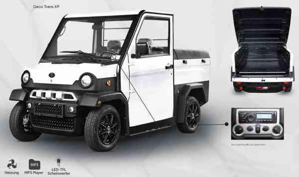 5 Kw Elektro-Nutzfahrzeug TRANS XP Pickup, inkl. Batterien Strassenzulassung max. 45 km/h