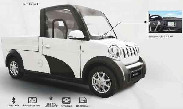 7,5 Kw Elektro-Nutzfahrzeug CARGO XC Pickup, inkl. 140Ah Lithium Batterie, max 76 km/h