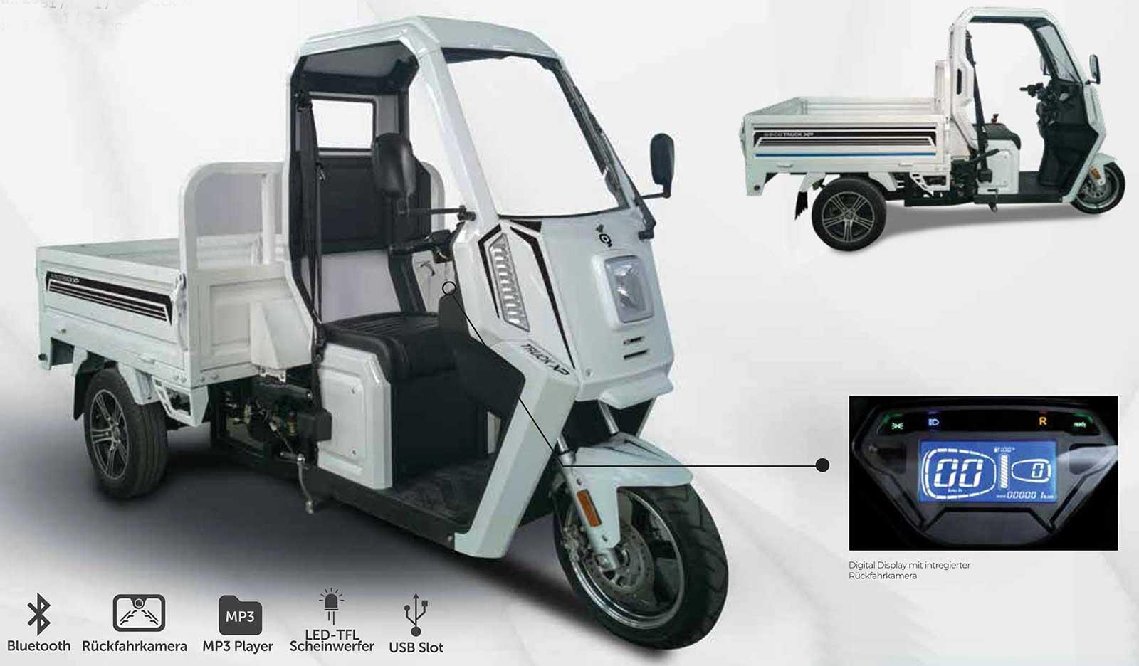 3 kw elektro nutzfahrzeug truck xp pick up max 45 km h. Black Bedroom Furniture Sets. Home Design Ideas