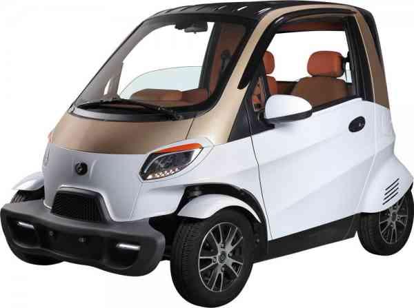 4 Kw Linzda E-Auto für 2 Personen, max. 45 Km/h Stadtflitzer, Mopedkennzeichen