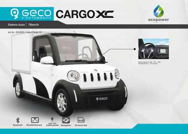 7,5 Kw Elektro-Nutzfahrzeug CARGO XC Koffer, inkl. 140Ah Lithium Batterie, max 76 km/h