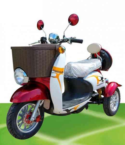"""ElektroMobil """"Mel 1"""" DreiRad-Scooter mit Rückwärtsgang, 500 Watt, Modell 2017"""