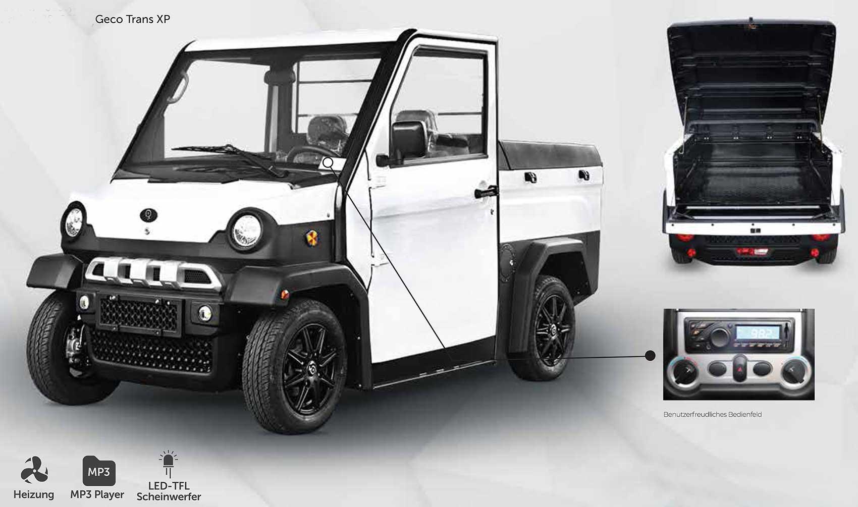 5 kw elektro nutzfahrzeug trans xp pickup inkl batterien. Black Bedroom Furniture Sets. Home Design Ideas