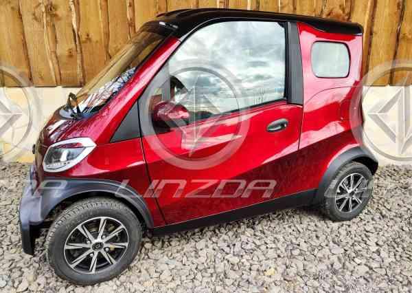 4 Kw Linzda E-Auto max. 45 Km/h, langer Radstand, Microcar, Mopedzulassung (kleines Kennzeichen)