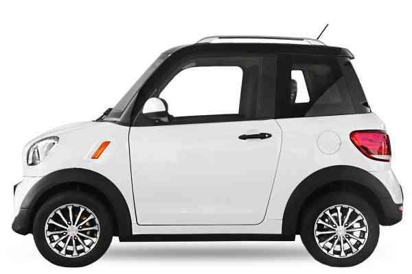4,5 Kw Geco Nizza TS1, 50km/h E-Auto für 2 Personen, Mopedzulassung (kleines Kennzeichen), Microcar